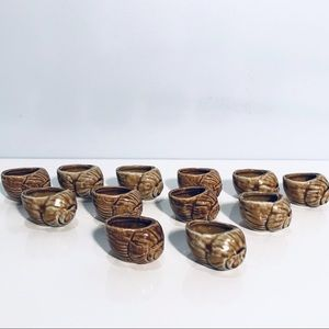 Escargot Snail Shells Ceramic Vintage Japan 12